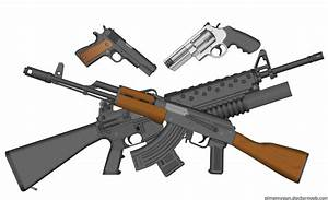The gallery for --> Crossed M16 Clip Art