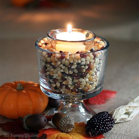 Easy Fall Popcorn Votive Candles