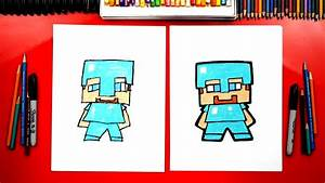 how to draw minecraft steve with armor for