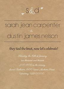 rustic reception invite i like the wording of this With wedding invitations for party only