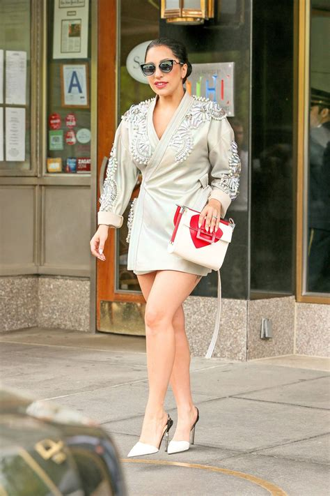 Lady Gaga Shows Off Her Legs in Mini Dress - New York, May ...