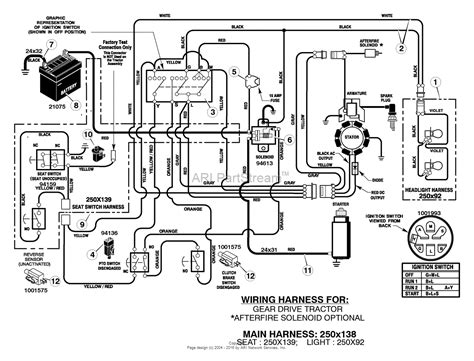 Mtd 10 Hp Wiring Diagram by Murray 405011x92a Lawn Tractor 2005 Parts Diagram For