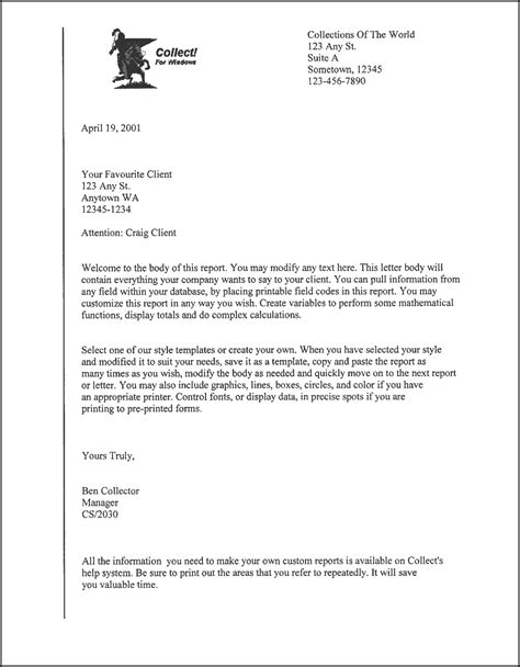 business letter  cc sample business letter