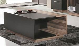 Table Basse Tv : combinaison meuble table basse et meuble tv black ~ Melissatoandfro.com Idées de Décoration
