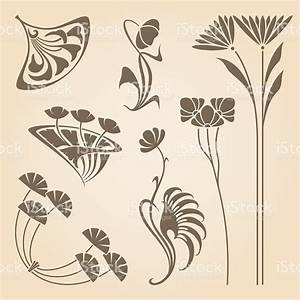 Jugendstil Florale Ornamente : vector set of vintage art nouveau design elements ~ Orissabook.com Haus und Dekorationen