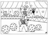Acrobat Coloring Balloons Pages Circus Hellokids sketch template