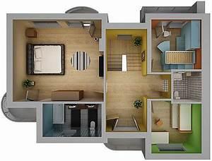 Home, Interior, Floor, Plan, 02, 3d, Model