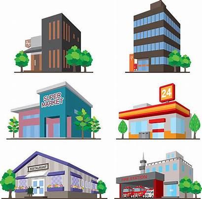 Vector Building Convenience Clip Illustrations Illustration Vectors
