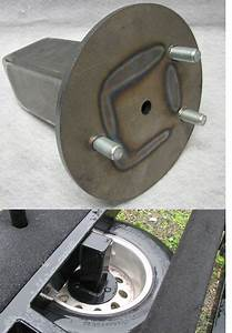 Trailer Spare Tire Carrier Under-carriage Mount