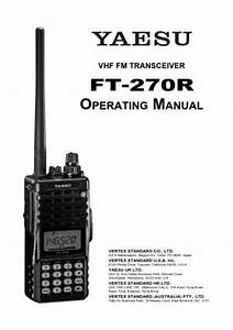Yaesu Ft-60r-e Others Download Manual For Free Now