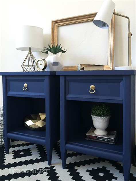 Painted Nightstands modern painted nightstands with country chic paint