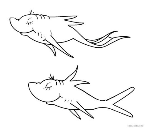 fish  fish red fish blue fish coloring pages  fish  fish red fish blue fish