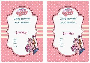My Little Pony Birthday Invitations – gangcraft net