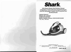 Shark Vacuum Cleaner S3325 User Guide