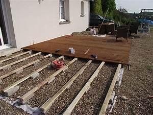 poser une terrasse en bois sur terre evtod With terrasse en bois sur terre