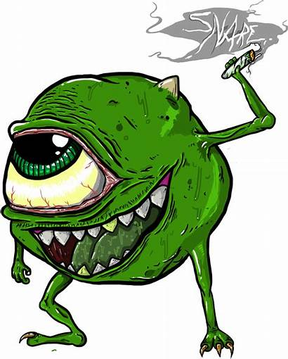 Weed Transparent Cartoon Mike Wazowski Cannabis Clipart