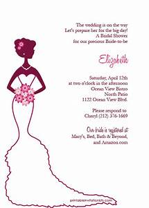 bridal shower invitations create free printable bridal With make wedding shower invitations online free