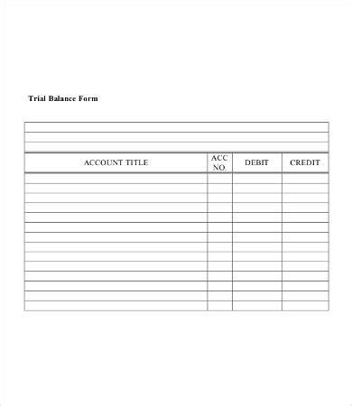 trial balance template best 25 trial balance ideas on the accounting 25314