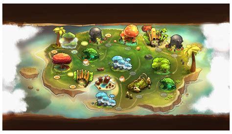 island map characters art critter crunch