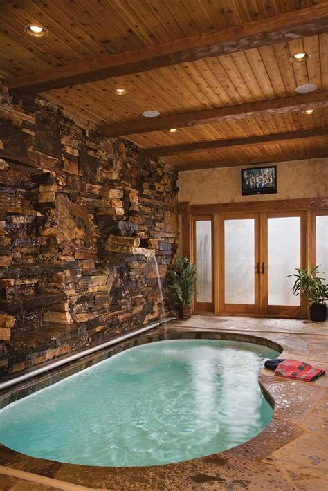 custom built homes  indoor swimming pools small house plans pool  shaped house plans