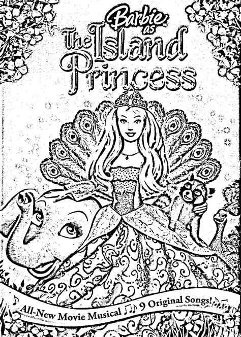 barbie island coloring pages   print