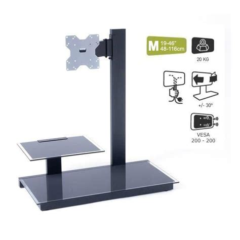 fixation support tv support mural pour tv mid