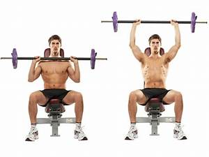 Seated Barbell Military Press for Shoulder Workout