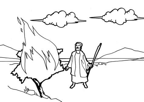 Moses Parting The Red Sea Coloring Page - Eskayalitim