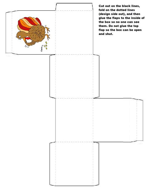 turkey template for box tops favor boxes boxes and halloween treat boxes on pinterest