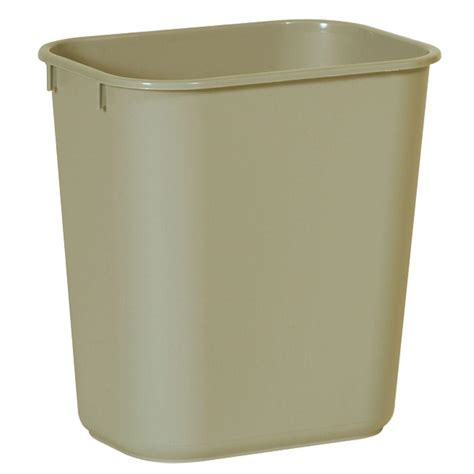 rubbermaid commercial products  gal beige rectangular trash  fgbeig  home depot
