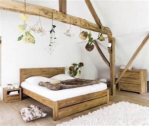 Lit 160 x 200 cm stockholm en bois de sheesham massif for Canapé convertible scandinave pour noël décoration chambre À coucher adulte