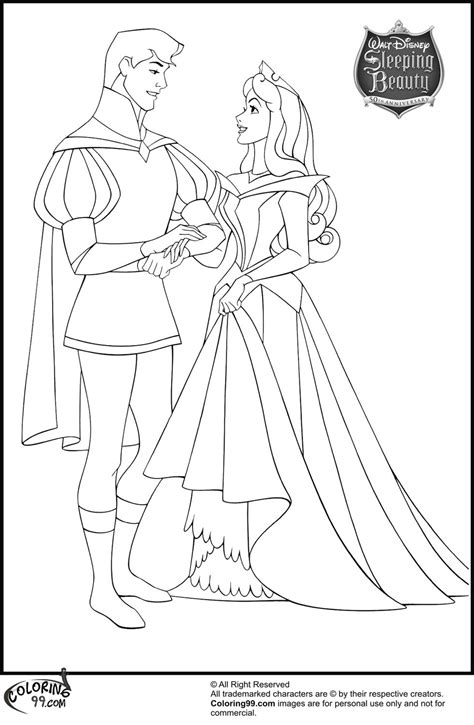 aurora and prince phillip coloring pages | Disney princess coloring pages, Disney princess