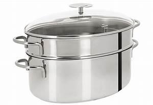 Cuit Vapeur Inox : cuit vapeur ovale inox mutine fixe casseroles cristel ~ Melissatoandfro.com Idées de Décoration