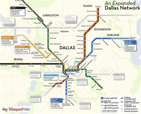 dallas metro map map  dallas metro texas usa