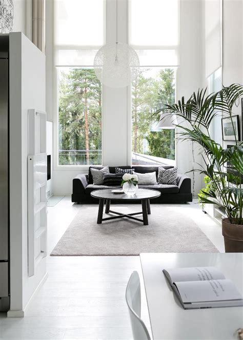 White Interiors by Scandinavian Modern Black And White Interior Design