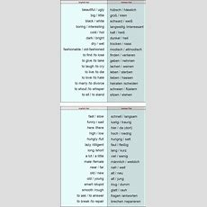 Antonyms  Opposites Words List  Learn German,vocabulary,german  Deutsch Idiomatisches