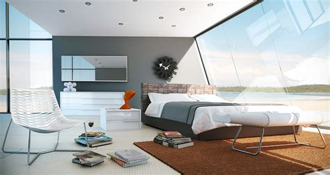 sleek bedrooms with cool clean lines home decoz