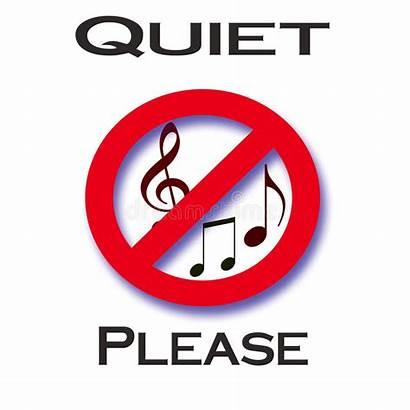 Quiet Please Noise Illustration Circle Sign Notes