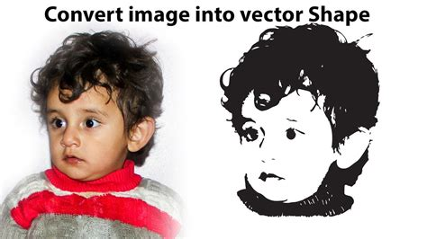 Keep your files safe, don't send them to. Convert image into vector Shape   Photoshop and ...