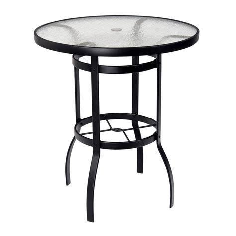 woodard deluxe 36 quot glass top bar table 826536w
