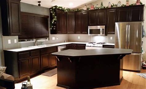 java kitchen cabinets kitchen makeover in java gel stain general finishes 2045
