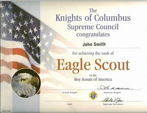 eagle scout certs With eagle scout certificate template