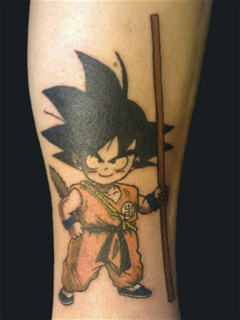 songoku   stick tattoo