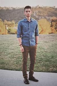 Hombres Cu00f3mo combinar una camisa de jean para distintas ocasiones  Asesoru00eda de Imagen Medellu00edn