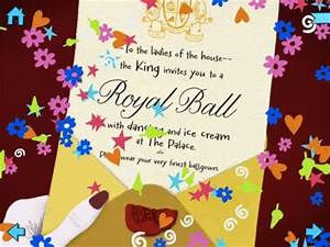 your invitation to the ball nosy crow39s cinderella app With cinderella invitation to the ball template