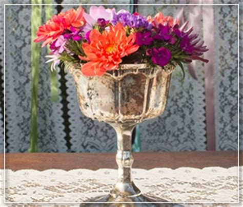 gold mercury glass compote inventory vases and vessels for rent rental items for