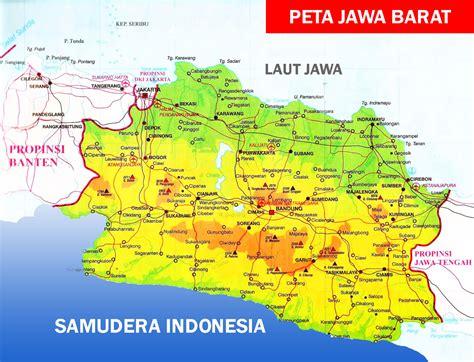 peta jawa barat lengkap  daftar nama  kabupaten