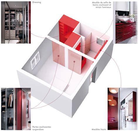 chambre immobili鑽e de plan chambre parentale avec salle de bain maison design bahbe com