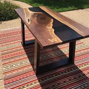 Table En Bois Et Resine : resin river table ~ Dode.kayakingforconservation.com Idées de Décoration