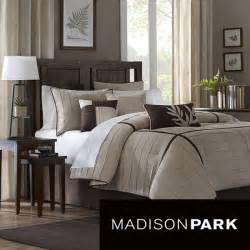 madison park dune beige brown 7 piece contemporary comforter set modern comforters and